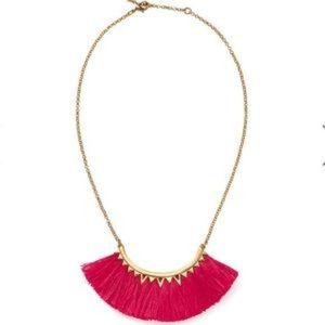 Pink Fringe Necklace- Stella and Dot Eden